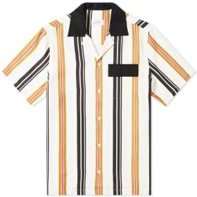 Saturdays NYC Short Sleeve Xavier Multi Stripe Shirt