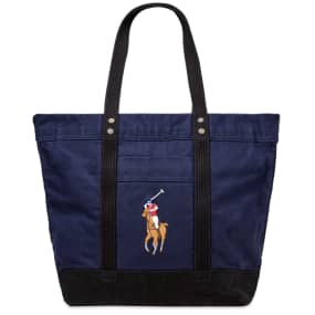 Polo Ralph Lauren Multi Polo Player Canvas Tote