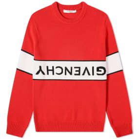 Givenchy Reverse Logo Cotton Crew Knit