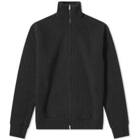 Maison Margiela 14 Classic Rib Knit Zip Cardigan