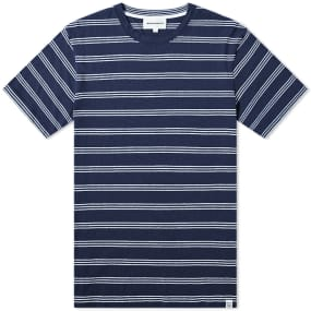 Norse Projects Johannes Cotton Linen Stripe Tee