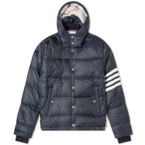 Thom Browne 4 Bar Hooded Jacket Down Jacket
