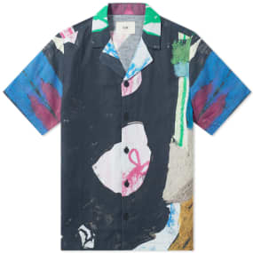 Folk Short Sleeve Soft Collar Vacation Shirt by End.