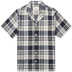 Folk Short Sleeve Soft Collar Vacation Shirt
