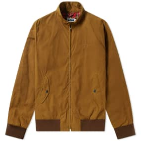 Fred Perry Reissues Made In England Waxed Harrington Jacket by End.