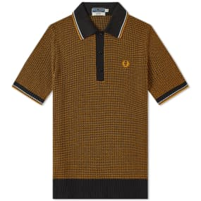 Fred Perry Reissues Two Colour Texture Knit Polo by End.