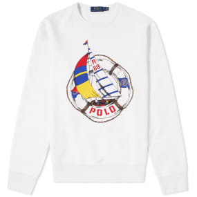 Polo Ralph Lauren Americas Cup Sailboat Print Crew Sweat by Polo Ralph Lauren