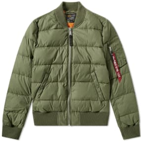 Alpha Industries Ma 1 Puffer Jacket by End.