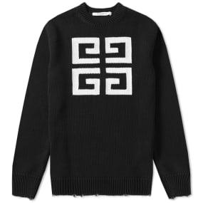 Givenchy 4G Jacquard Crew Knit