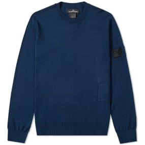 Stone Island Shadow Project Soft Cotton Light Gauge Crew Knit by End.