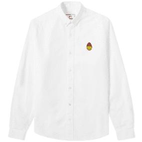 AMI Smiley Button Down Oxford Shirt