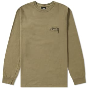 Stussy Long Sleeve Modern Age Pigment Dyed Tee