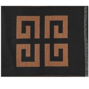 Givenchy Wool Silk Logo Scarf