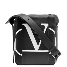 Valentino Go Logo Leather Shoulder Bag