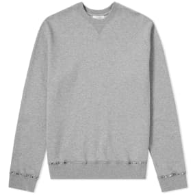 Valentino Rockstud Untitled Cuff Crew Sweat