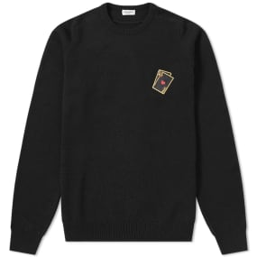 Saint Laurent Playing Card Embroidery Cashmere Crew Knit by End.