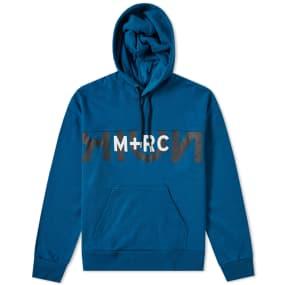 M+Rc Noir Big Logo Popover Hoody by End.