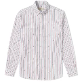 Maison Kitsuné Button Down Fox Jacquard Shirt