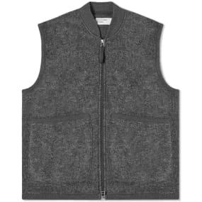 Universal Works Zip Wool Fleece Waistcoat