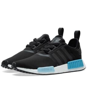 hot sale online 25168 358b1 2017 adidas NMD R1 Core Black Icey Blue-Footwear White BY9951