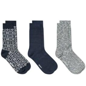 Barbour Chunky Sock Gift Set - 3 Pack