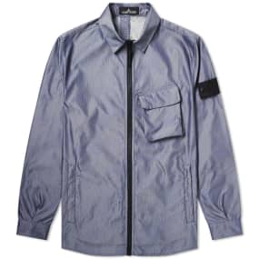 Stone Island Shadow Project Lenticular Jacquard Zip Shirt Jacket