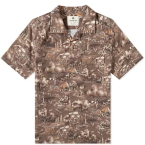 Snow Peak Printed Quick Dry Aloha Shirt