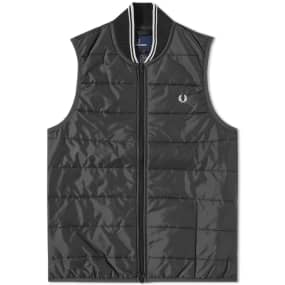 Fred Perry X Lavenham Quilted Gilet by Fred Perry Authentic