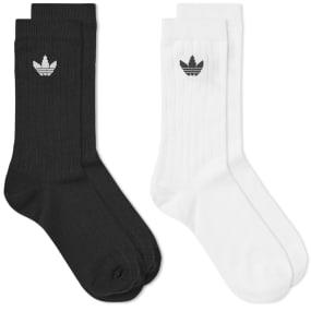 Adidas Mid Rib Sock - 2 Pack