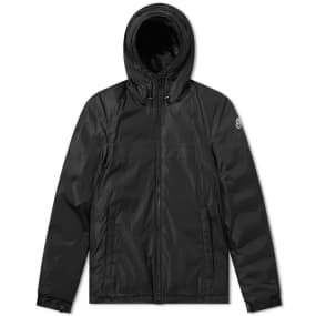 Moncler Montvernier Logo Hooded Light Down Jacket by End.