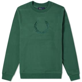 Fred Perry Embroidered Laurel Sweat by End.