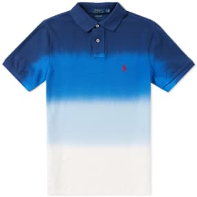 polo ralph lauren dip dye polo navy white end