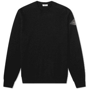 Saint Laurent Patch Logo Knit Crew