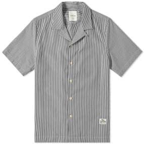 Wood Wood Short Sleeve Brandon Seersucker Stripe Vacation Shirt
