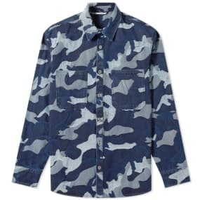 Valentino Camo Jaquard Denim Overshirt