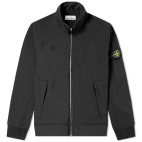 Stone Island Soft Shell R Concealed Hood Jacket by End.