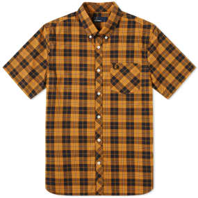 Fred Perry Short Sleeve Check Pocket Shirt