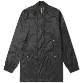 Rick Owens DRKSHDW Mixed Fabric Long Bomber Jacket