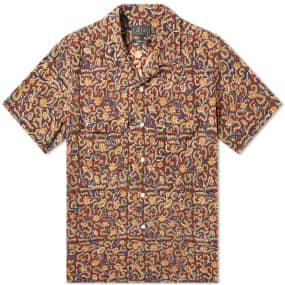 Beams Plus Short Sleeve Open Collar Batik Print