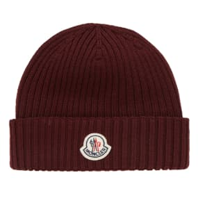 Moncler Berretto Basic Ribbed Beanie by End.