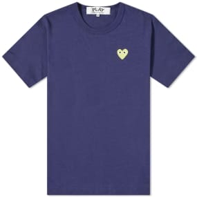 Comme des Garcons Play Gold Heart Logo Tee