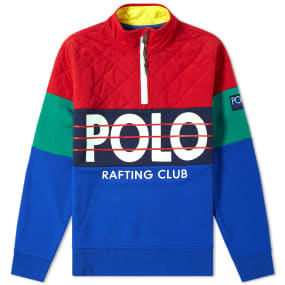 Polo Ralph Lauren Quilted Half Zip Sweat