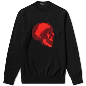 Alexander Mc Queen Skull Intarsia Crew Knit by End.