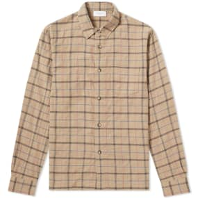 John Elliott Straight Hem Check Shirt