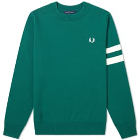 Fred Perry Authentic Engineered Stripe Crew Knit