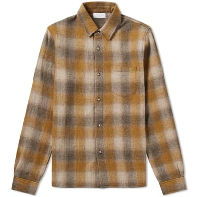 John Elliott Wool Flannel Check Overshirt