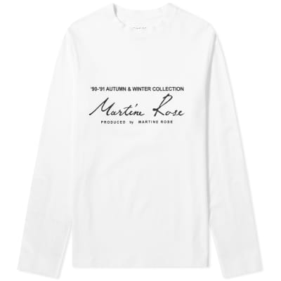 Martine Rose Long Sleeve Logo Tee