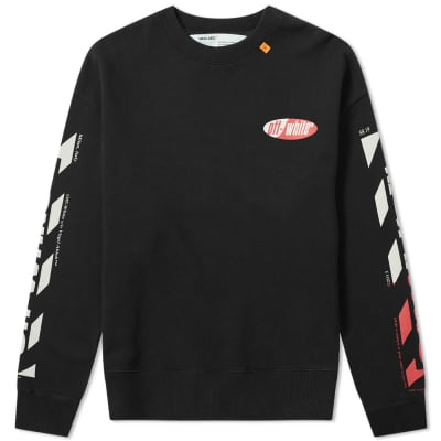 Off-White Split Logo Over Crew Sweat