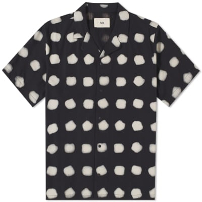 Folk Short Sleeve Dot Vacation Shirt