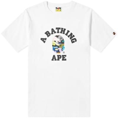 A Bathing Ape Multi Camo College Tee